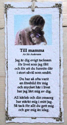 tack mamma dikt